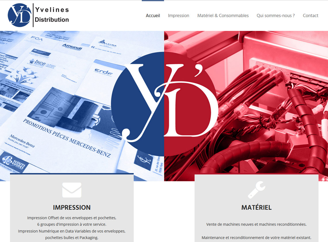 Yvelines Distribution - Base Bootstrap - Theme personnel